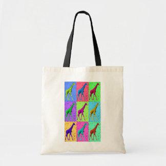 Popkonst Popart som går giraffMång--Färg Tygkasse