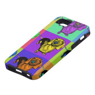 Popkonstdachsunden Doxie Panels Mång--Färg Popart iPhone 5 Case-Mate Cases