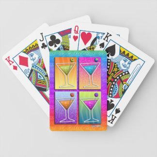 PopkonstMARTINIS som LEKER KORT Spelkort