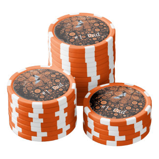 Popkonstorangen cirklar den orange pokerchipen poker marker