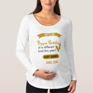 Poppa meddelande för flaskagott nytt årbaby t shirt