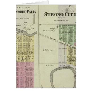 Poppelnedgångar, stark stad, Safford, Kansas Hälsningskort