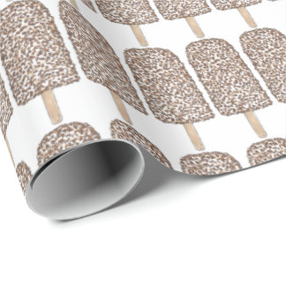 Popsicle för chokladEclairglass som slår in papper Presentpapper