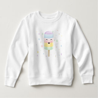 Popsicle med ett leende i regnbåge tee shirts