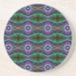 Populärt mönster för lavendelgröntneon underlägg sandsten