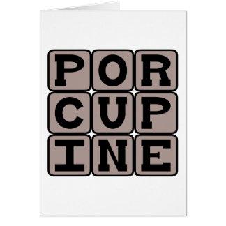 Porcupine Kor-Quilled Rodent Hälsningskort