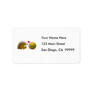 Porcupinen älskar kaktusen adressetikett