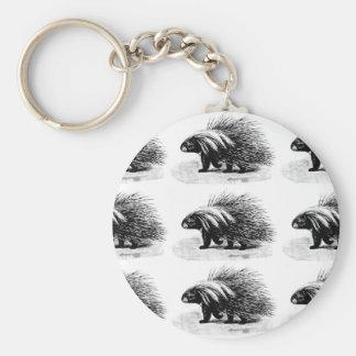 porcupinen driver manen rund nyckelring