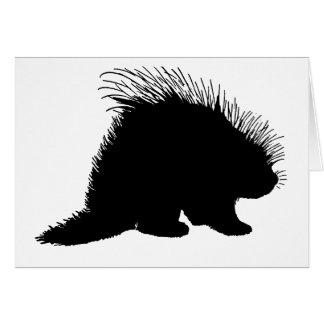 Porcupinesilhouette Hälsningskort