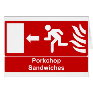 Porkchop smörgåsar hälsningskort