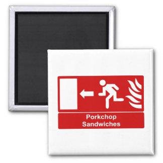Porkchop smörgåsar magnet