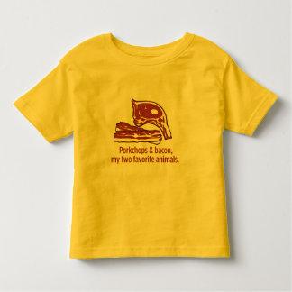 Porkchops & bacon, min två favorit- djur tee shirt