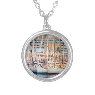Port av Barcelona Silverpläterat Halsband