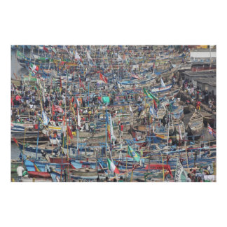 Port av den slav- staden Elmina, Ghana, västra afr Poster