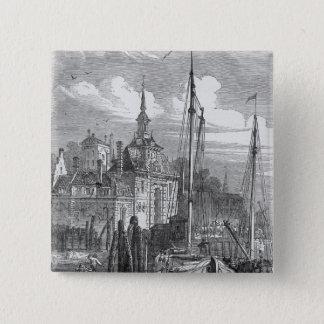 Port av Rotterdam, Holland Standard Kanpp Fyrkantig 5.1 Cm
