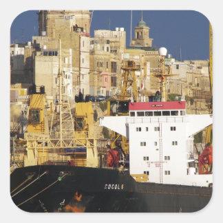 Port av Valletta. Fyrkantigt Klistermärke