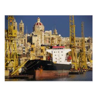 Port av Valletta. Vykort