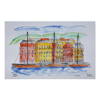 Port Bastia | Corsica, frankrike Poster