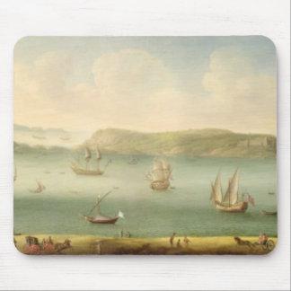 Port Mahon, Minorca, 1730's (olja på kanfas) Musmatta