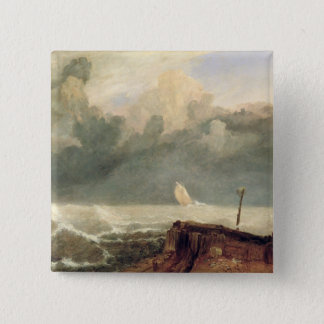 Port Ruysdael (olja på kanfas) Standard Kanpp Fyrkantig 5.1 Cm