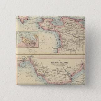 Portar och hamnar på sydkusten av England 2 Standard Kanpp Fyrkantig 5.1 Cm