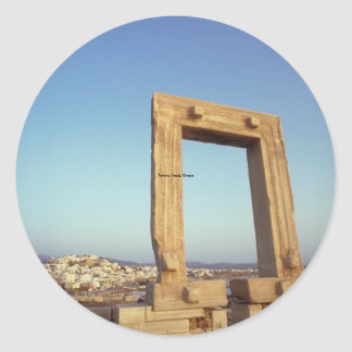 Portara Naxos, Grekland Runt Klistermärke