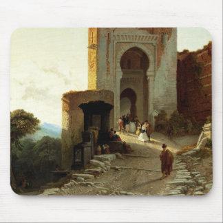 Porte de Rättvisa, Alhambra, Granada (olja på kanf Musmatta