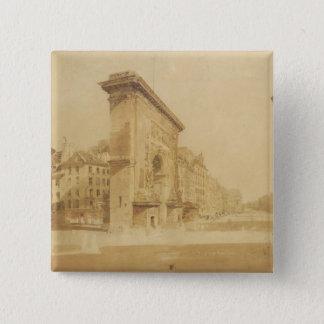 Porte St Denis, Paris (w/c) Standard Kanpp Fyrkantig 5.1 Cm