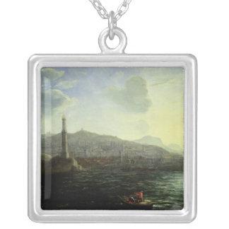 Porten av Genoa, havet beskådar Silverpläterat Halsband
