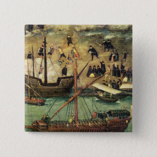 Porten av Seville, c.1590 Standard Kanpp Fyrkantig 5.1 Cm