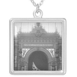 Portico av keramik silverpläterat halsband