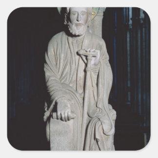 Portico de la Gloria som visar St James Fyrkantigt Klistermärke