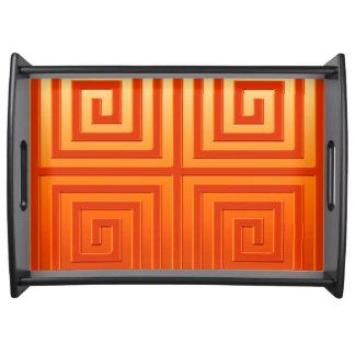 Portionmagasin, grafisk design i orange frukostbricka