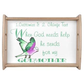 Portionmagasin - när guden gav behovsHjälp-GUDMOR Serveringsbricka
