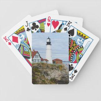 Portland billyktafyr på stenig kust spelkort