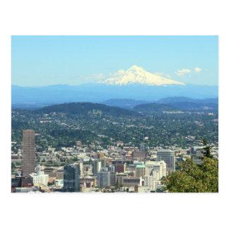 Portland den Oregon staden beskådar, monterar Vykort