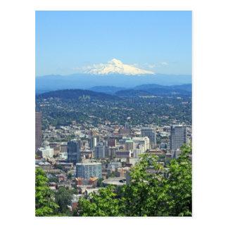 Portland, den Oregon staden och berg beskådar Vykort
