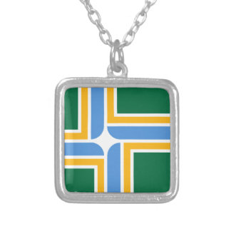 Portland flagga silverpläterat halsband
