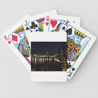 Portland horisont på natten spelkort