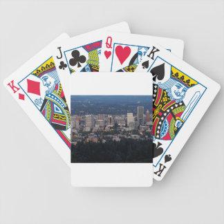 Portland horisont på skymningen spelkort
