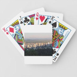 Portland horisont på solnedgången spelkort