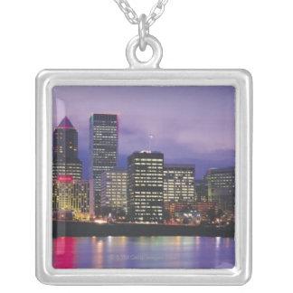 Portland horisont silverpläterat halsband