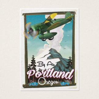 Portland Oregon vintage resoraffisch Visitkort
