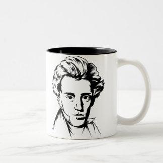 Portra för Soren Kierkegaard Två-Tonad Mugg