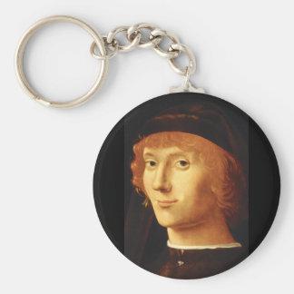 Portrait', Antonello da Messina_Portraits Rund Nyckelring