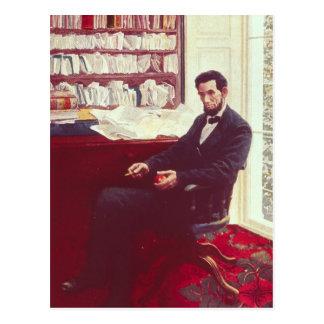 Porträtt av Abraham Lincoln Vykort