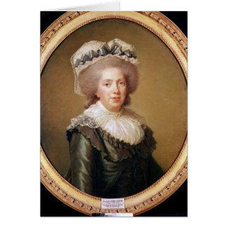 Porträtt av Adelaide de Frankrike 1791 Hälsningskort