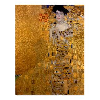 Porträtt av Adele Bloch-Bauer vid Klimt Vykort