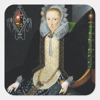 Porträtt av Adriana skåpbil Nesse, 1611 Fyrkantigt Klistermärke