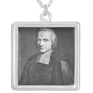 Porträtt av Adrien Baillet Silverpläterat Halsband